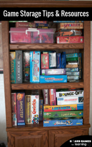 The secret to effectively store games on your book shelves and in closets.