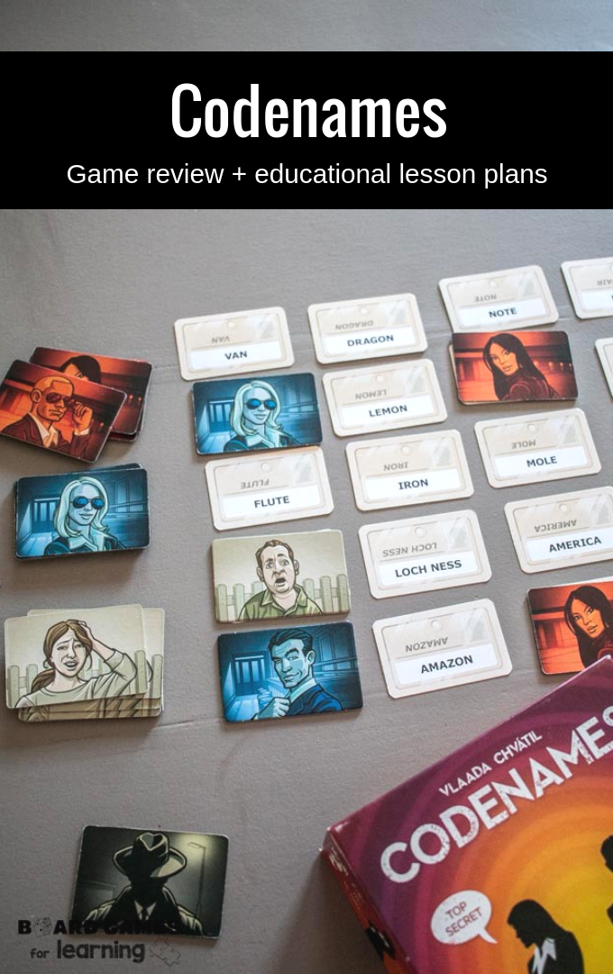 Codenames game review and how to use it in the classroom or homeschool curriculum