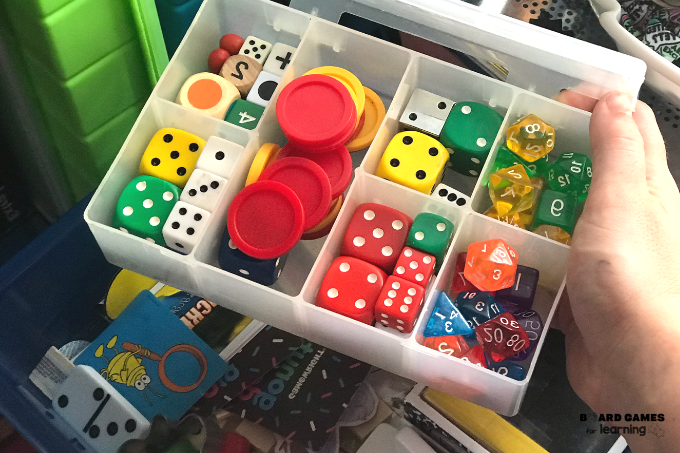 Dice storage container ideas.